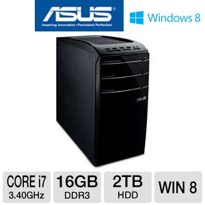 Asus Core i7 2TB HDD 16GB RAM Desktop PC