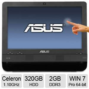 "Asus 15.6"" Celeron 320GB HDD 2GB DDR3 All-In-One"