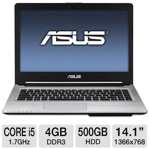 "ASUS S46CA 14.1"" Core i5 500GB HDD Ultrabook"