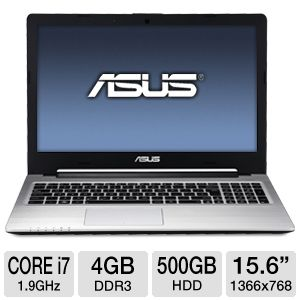 "ASUS S56CA 15.6"" Core i7 500GB HDD Ultrabook"