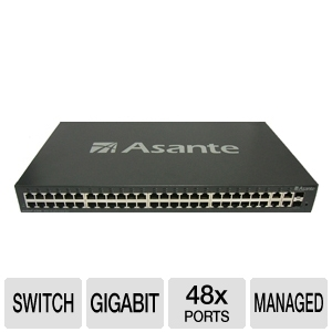Asante 48-port FastEthernet + 4 Gigabit L2+ Switch