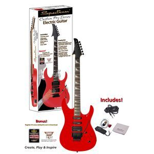 Gloss Red Shark Style Electric Guitar