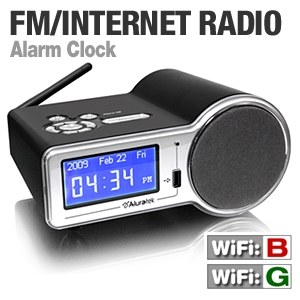 Aluratek AIRMM01F Internet Radio Alarm Clock
