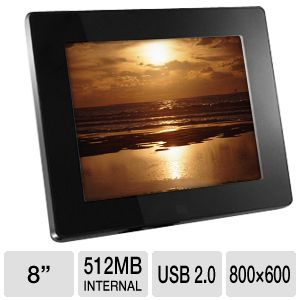 Aluratek ADMPF108F 8&quot; Digital Picture Frame