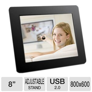 Aluratek ADPF08SF 8&quot; Digital Photo Frame