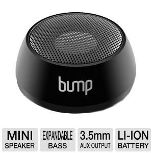 Aluratek APS01F BUMP 3.5mm Portable Mini Speaker