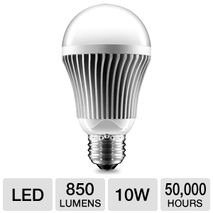 Aluratek A19 10W 850lm LED Light Bulb, Dimmable