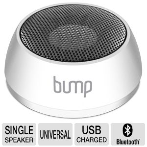 Aluratek Bump Bluetooth White Portable Speaker