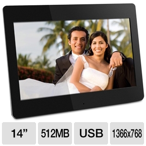 "Aluratek ADMPF114F 14"" Digital Photo Frame"