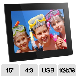 Aluratek ADMPF315F 15&quot; Digital Photo Frame
