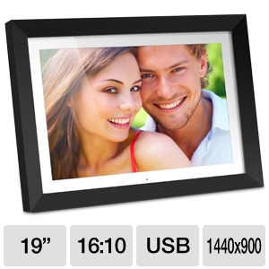 "Aluratek ADMPF119 19"" Digital Photo Frame"