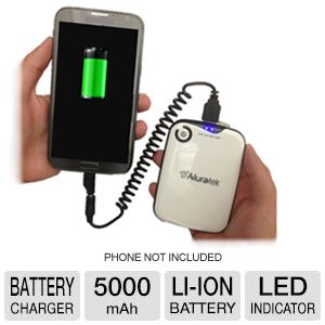 Aluratek 5000mAh Portable Battery Charger