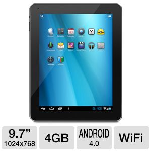 "Aluratek CINEPAD 9.7"" Android 4.0 4GB WiFI Ta"