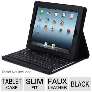 Adesso Keyboard and Case for iPad 2/3/4 in Black