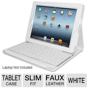 Adesso Keyboard and Case for iPad 2/3/4 in White