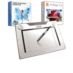 Adesso CYBERTABLETM14 Graphics Tablet & Pen Bundle