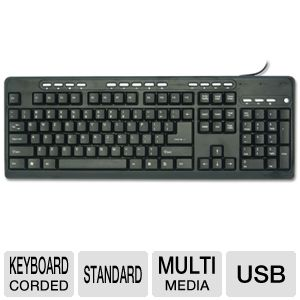 Adesso AKB-131UB Desktop Multimedia  USB Keyboard