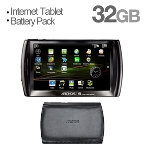Achros 5 32GB Internet Touch Tablet & Case Bundle