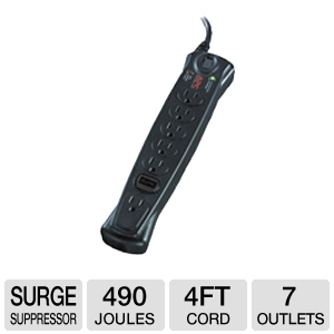 APC 840 Joules Surge Suppressor w/ 7 Outlets