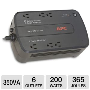 APC Back-UPS ES 6 Outlet 350VA 120V