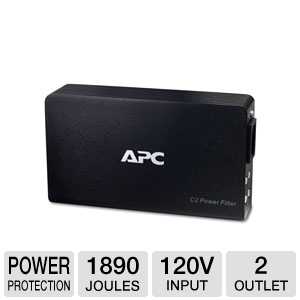 APC C2 AV C Type 2-Outlet Wall Mount Power Filter