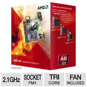 AMD Triple-Core A6-3500 2.1GHz Radeon HD 6530D APU