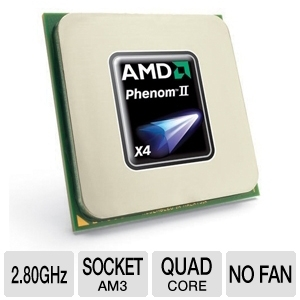 AMD Phenom II X4 830 2.80GHz Quad-Core AM3 OEM CPU