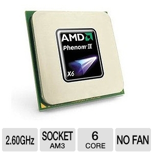 AMD Phenom II X6 1035T 2.60 GHz Six Core OEM CPU