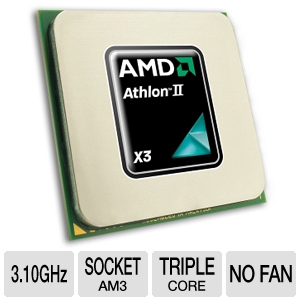AMD Athlon II X3 445 3.1GHz AM3 OEM Processor