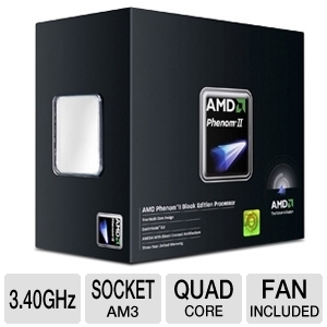 AMD Phenom II X4 965 Black Edition Quad Core CPU