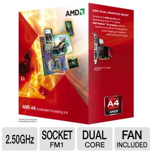 AMD Dual-Core A4-3300 2.5GHz Radeon HD 6410D APU