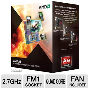 AMD Quad-Core A6-3670K 2.7GHz Radeon HD 6530D APU