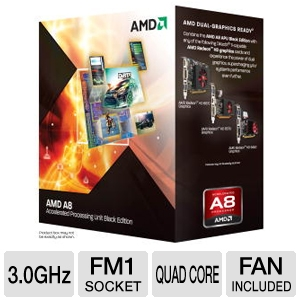 AMD Quad-Core A8-3870K 3.0GHz Radeon HD 6550D APU