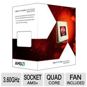 AMD FX-4100 3.60 GHz Quad Core AM3+ Unlocked CPU