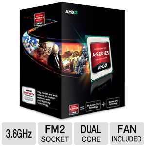 AMD Dual-Core A6-5400K 3.6GHz Radeon HD 7540D APU