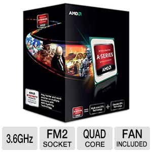 AMD Quad-Core A8-5600K 3.6GHz Radeon HD 7560D APU