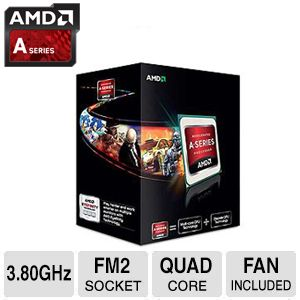 AMD Quad-Core A10-5800K 3.8GHz Radeon HD 7660D APU