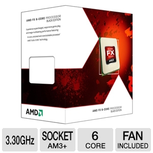 AMD FX-6100 3.30 GHz Six Core AM3+ Unlocked CPU