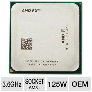 AMD FX-8150 3.6Ghz AM3+ Processor