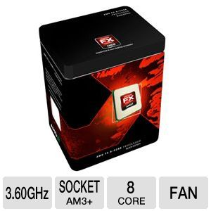 AMD FX-8150 3.60 GHz Eight Core AM3+ Unlocked CPU