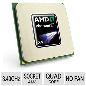 AMD Phenom II X4 965 3.4GHz Quad-Core BE CPU OEM