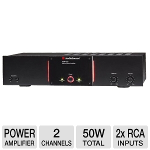 AudioSource AMP102 2-Channel 50Watt Power Amp