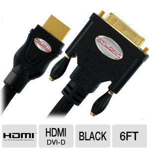 Atlona AT14020-2 6ft DVI-D to HDMI Cable