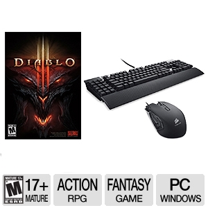Diablo III PC Game &amp; Corsair MMO Key/Mouse Bundle
