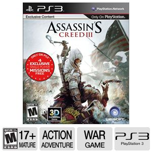 Ubisoft Assassin's Creed 3 ERSB M PS3 Game