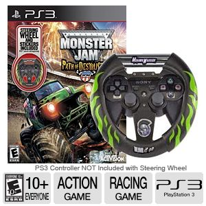 Monster Jam 3 Bundle With Steering Wheel for PS3