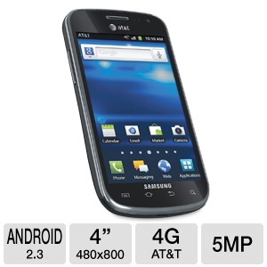 AT&T Samsung Exhilarate I577 4G LTE Cell Phone
