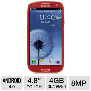 AT&T Samsung Galaxy S III 4G LTE Red Cell Phone