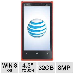 Nokia Lumia 920 Windows 8 OS Red Smartphone