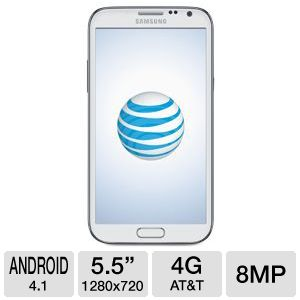 AT&T Samsung Galaxy Note 2 White Smartphone